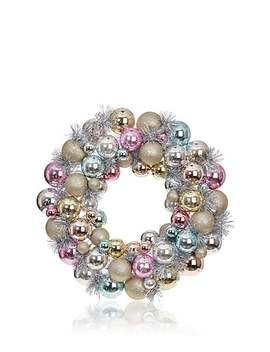 Tinsel Embellished Ornament Wreath by Raz Imports