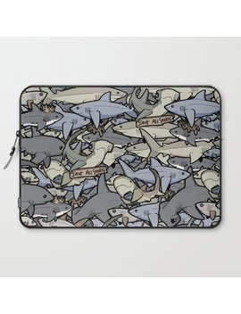 Save All Sharks! Laptop Sleeve by