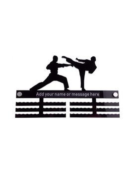 Personalised Men's Male Boys Martial Arts   Acrylic Medal Holder, Hanger, Display by Etsy