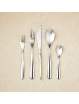 20 Piece Stretch Shiny Silver Flatware Set by Crate&Barrel