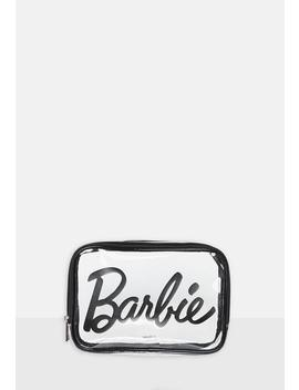Barbie X Missguided Clear Zip Makeup Bag by Missguided