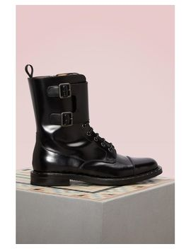 Women's Black Stefy Leather Boots by Church's