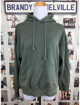 Brandy Melville Olive Green Kangaroo Pocket Christy Pullover Hoodie Sweatshirt by Brandy Melville John Galt