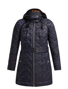 Baughton Diamond Quilted Hooded Jacket by Burberry
