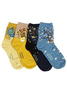 Osabasa Womens Art Patterned Casual Crew Socks 1 Or 4 Or 5 Pack by Osabasa