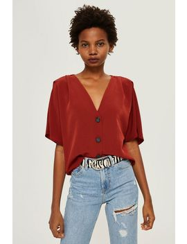 Tall Pleated Sleeve Blouse by Topshop