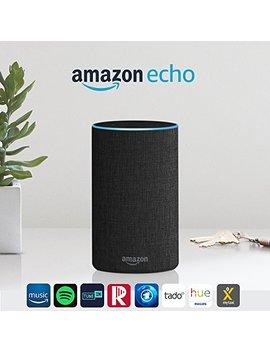 Amazon Echo (2. Gen.), Intelligenter Lautsprecher Mit Alexa, Anthrazit Stoff by Amazon