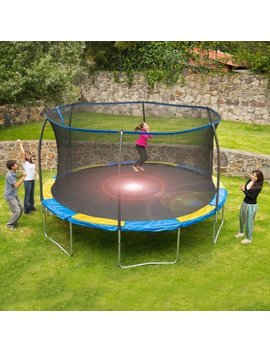 Bounce Pro 14' Trampoline With Flash Light Zone And Safety Net Enclosure (Trampoline With Flash Light Zone) by Unknown