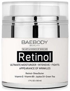 Baebody Retinol Moisturizer Cream For Face And Eye Area   With Retinol, Jojoba Oil, Vitamin E. Fights The Appearance Of Wrinkles, Fine Lines. Best Day And Night Cream 1.7 Fl. Oz by Baebody