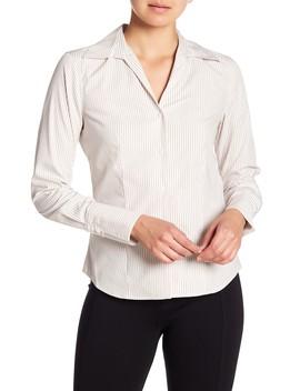 Long Sleeve Stripe Blouse by Modern American Designer