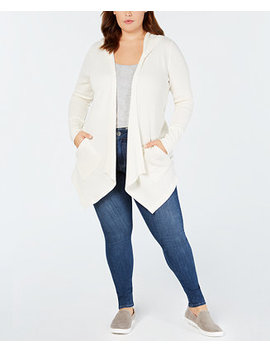 Plus Size Hooded Open Cardigan, Created For Macy's by Style & Co