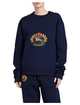 Copes Crewneck Logo Crest Sweatshirt, Dark Blue by Neiman Marcus