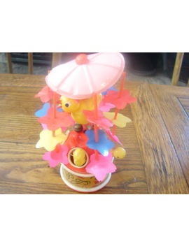 Vintage Celluloid Windup Merry Go Round Toy With Moving Chicks Japan Works by Ebay Seller