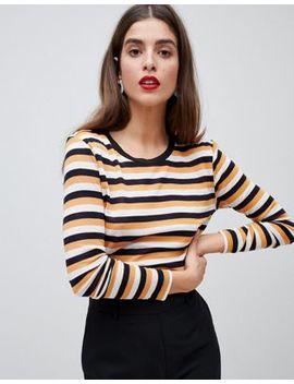 Vero Moda Stripe Long Sleeve Top by Vero Moda