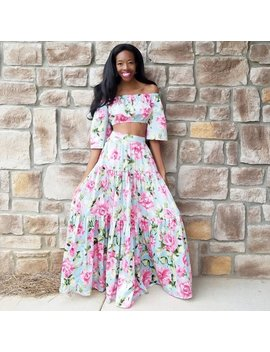Pink Peony Cotton Sateen Triple Tier Maxi Ball Skirt With Optional Flounce Top (Xs   6 Xl) Any Length, Any Size by Etsy