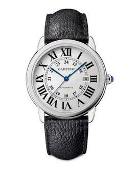 Ronde Solo De Cartier Automatic Leather Strap Watch by Cartier