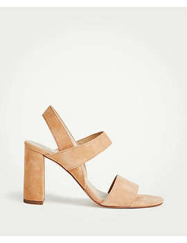 Lorna Suede Sandals by Ann Taylor