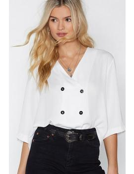 On Your Double Breast Behavior Blouse by Nasty Gal