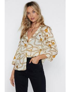 My Ball And Chain Print Shirt by Nasty Gal