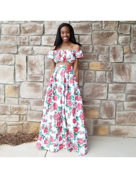 """Roses On White Satin Maxi Ball Skirt """"Rose"""" (Xs   6 Xl) Any Length, Plus Size Too, Skirt Only by Etsy"""