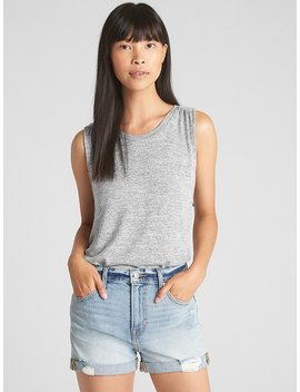 Softspun Swing Tank Top With Cinched Back by Gap