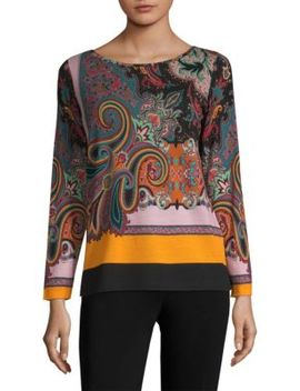 Paisley Jersey Top by Etro