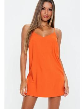 Orange Cami Shift Dress by Missguided