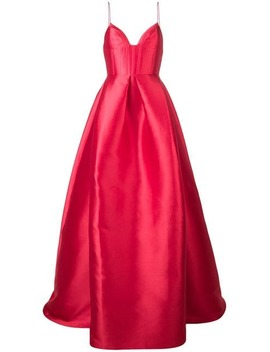 Sweetheart Flared Maxi Dress by Alex Perry