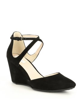 Lacey Suede Wedge Pumps by Cole Haan