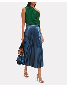 Emerald Off Shoulder Blouse by Michelle Mason