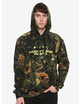Twenty One Pilots Flower Camo Hoodie by Hot Topic