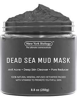 Dead Sea Mud Mask For Face & Body   100 Percents Natural Spa Quality   Best Pore Reducer & Minimizer To Help Treat Acne , Blackheads & Oily Skin – Tightens... by New York Biology