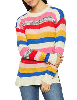 Multi Color Striped Sweater by Rainbow