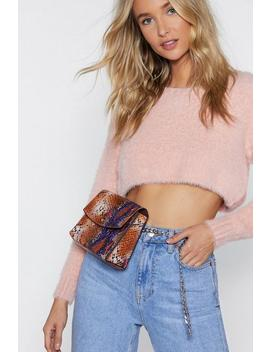 Want Snake Care Chain Belt Bag by Nasty Gal