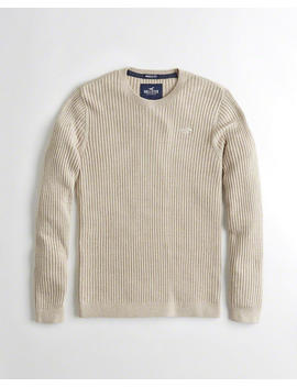 Muscle Fit Lightweight Crewneck Sweater by Hollister