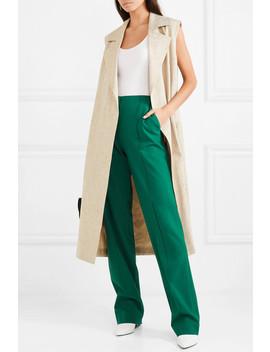 Wool Blend Straight Leg Pants by Diane Von Furstenberg