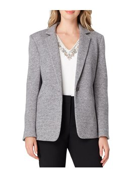 Petite Size Notch Collar One Button Blazer Jacket by Tahari Asl