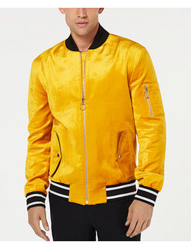 I.N.C. Men's Velvet Bomber Jacket, Created For Macy's by Inc International Concepts