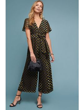 Metallic Polka Dot Jumpsuit by Astr The Label