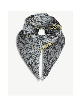 Face Print Modal And Cashmere Scarf by Fornasetti
