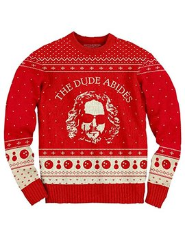 The Big Lebowski The Dude Abides Ugly Christmas Sweater by The Big Lebowski