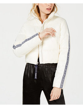 Repeat Logo Zip Cropped Puffer Jacket by Juicy Couture