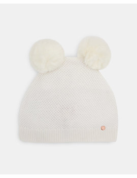 Double Pom Pom Beanie Hat by Ted Baker