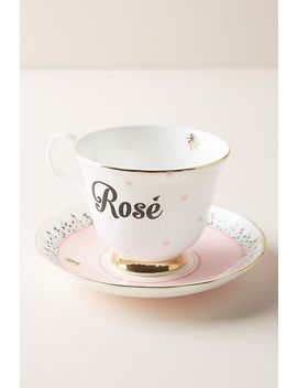 Yvonne Ellen Bevvie Cup & Saucer by Anthropologie