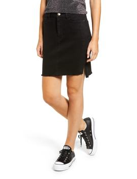 Tuxedo Stripe Denim Skirt by Tinsel