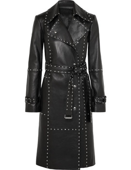 Studded Leather Trench Coat by Helmut Lang