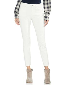Washed Stretch Cotton Corduroy Skinny Pants by Vince Camuto
