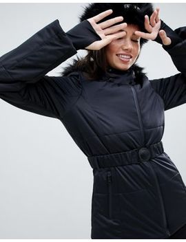 Asos 4505 Ski Jacket With Belt And Padded Panel Detail by Asos 4505