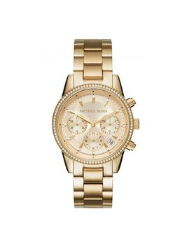 Michael Kors Women's Mk6356 Ritz Chronograph Gold Dial Gold by Michael Kors