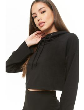 Cowl Neck Drawstring Hoodie by Forever 21